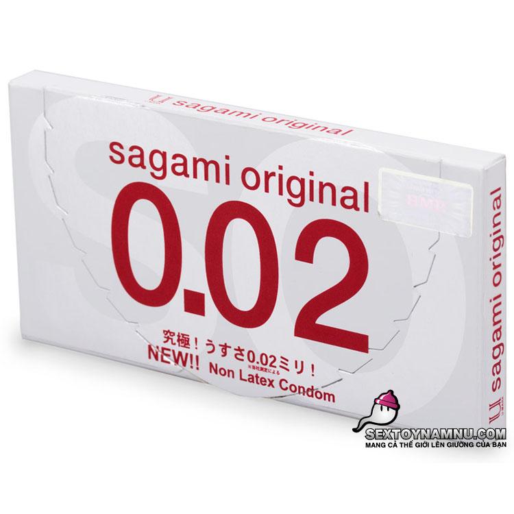 Bao cao su mỏng nhất thế giới Sagami Original 0.02 hộp 2 cái
