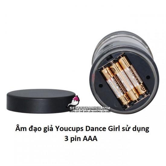 Âm đạo giả Youcups Dance Girl 3 pin