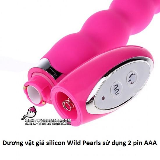 Dương vật giả silicon Wild Pearls 2 pin