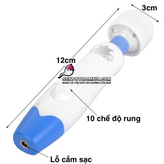 Kích thước máy massage âm đạo mini 3 đầu