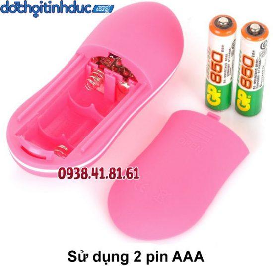 Đồ chơi tình dục cho hậu môn Butt Plug ngắn sử dụng 2 pin AAA