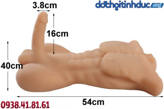 Kích thước búp bê tình dục nam nửa người bằng silicon