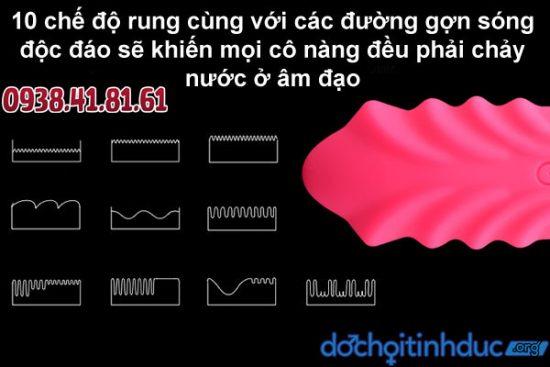 Trứng rung không dây gợn sóng có đến 10 kiểu rung